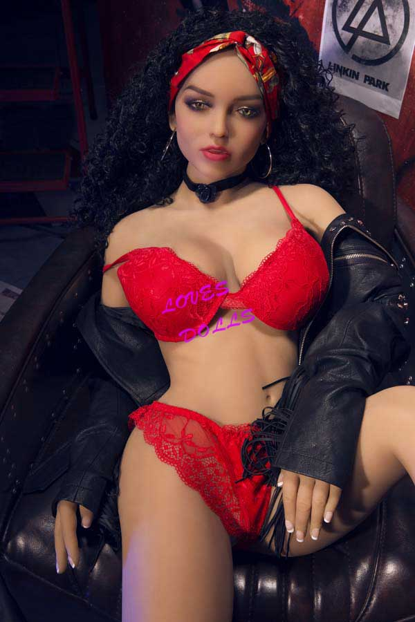 156cm ( 5.12ft ) Full Silicone Sex Doll With Pretty Face Silender Soft Body Milf Firm Chest Bouncy Butt African Mixed Blood Pretty Prostitutes in the Red Light District Wear Sexy Bikini Lingerie Lifelike Oral Vagina Pussy Anal love doll YW-63