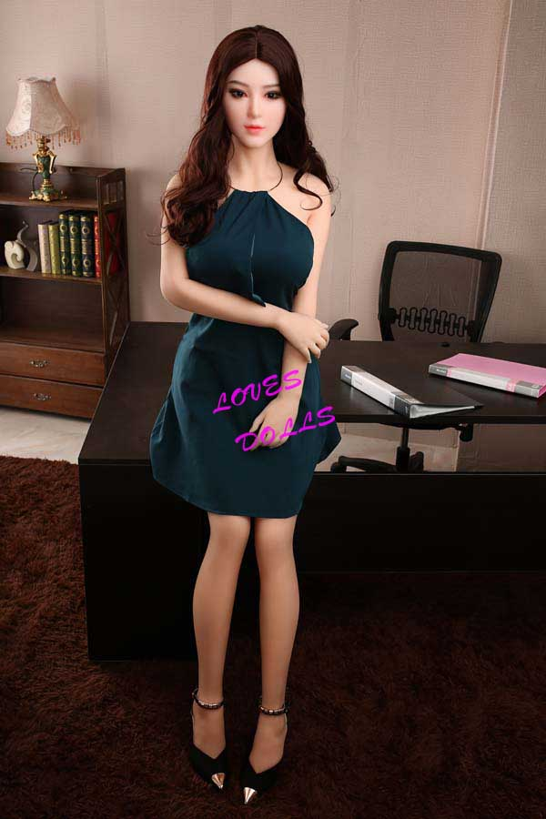 165cm ( 5.51ft ) Life Size sex doll with beautiful big breast Plump Ass Chinese White skin milf wear Sexy dress Lifelike Oral Vagina Pussy Anal love doll sex doll YW-26