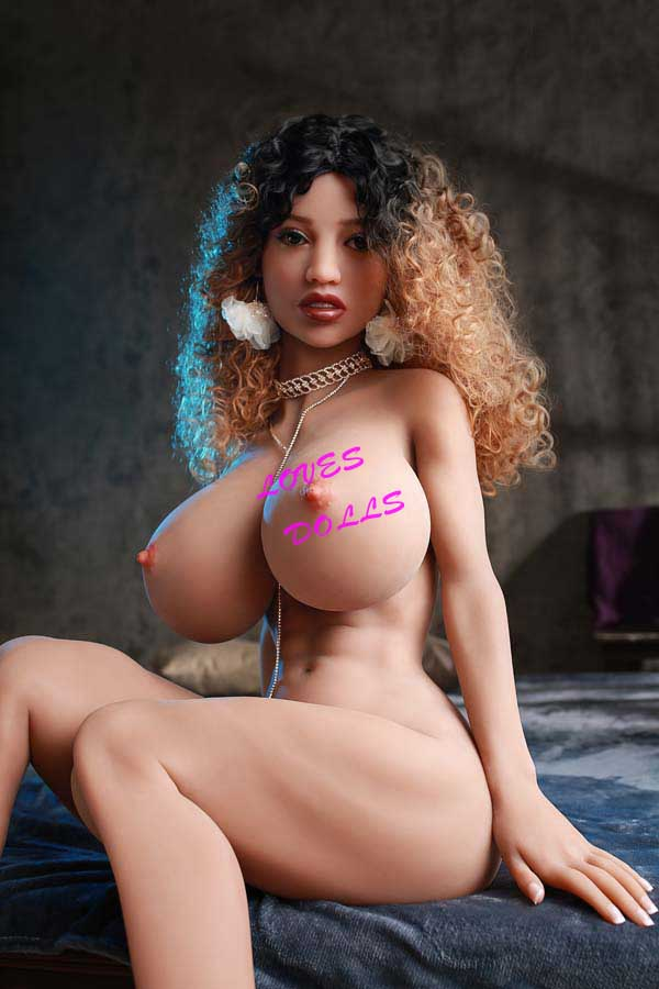 157cm ( 5.15ft ) Full Silicone Sex Doll With Pretty Cheeks Super Chubby Body Huge Chest Huge Ass African Mixed Blood Prostitutes in Red Light District Wear Sexy Bikini Lingerie Lifelike Oral Vagina Pussy Anal love doll  YW-61