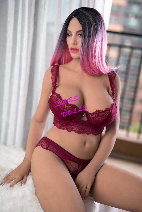 160cm ( 5.251ft ) Full Size milf sex doll with beautiful Super Chubby body Huge Tits huge hip ass pink hair sexy exotic whore wear Sexy bikini Lingerie Lifelike Oral Vagina Pussy Anal love doll sex doll YW-41
