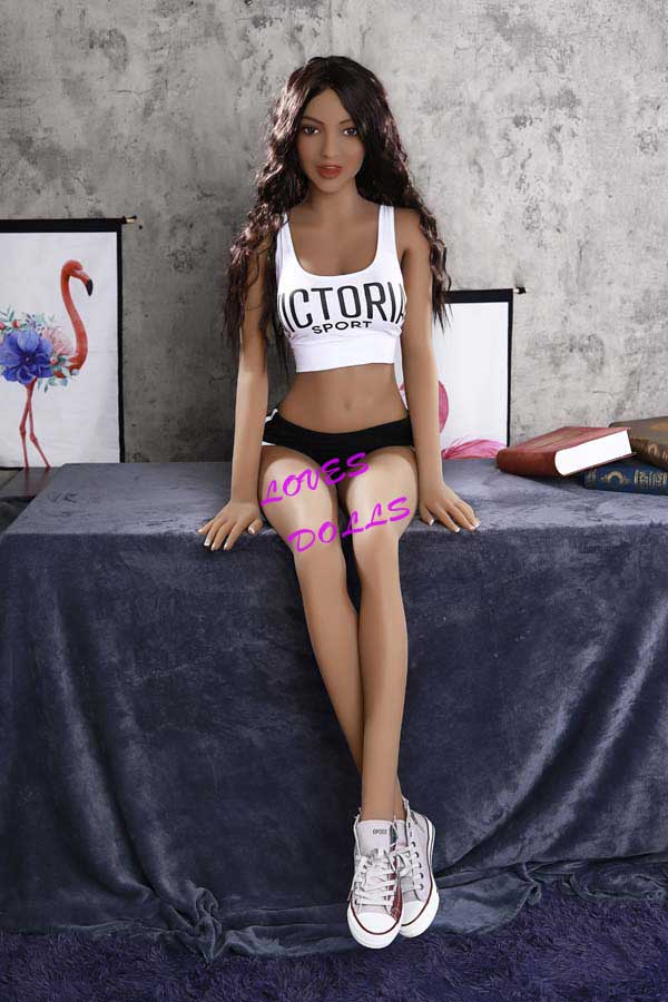 166cm ( 5.51ft ) Full Silicone sex doll with slender Sex Body Big Ass Medium Breast Mixed Blood Tan skin Chinese hot girl wear Sexy Sexy running shorts Lifelike Oral Vagina Pussy Anal love doll sex doll YW-23