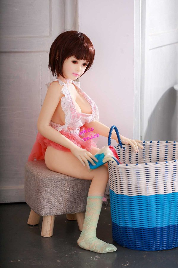 100cm(3.28ft) Asian Chubby Sex Doll Soft White Body Huge Tits Pink Nipples Big Ass Japanese Student Girl With White Tender Skin Wear Sexy Underwear True To Nature Pink Pussy Vagina Anal Oral Love Doll YW-105