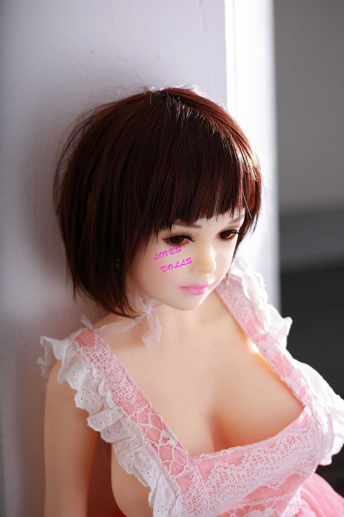 100cm(3.28ft)Asian Chubby Sex Doll Soft White Body Huge Tits Pink Nipples Big Ass Japanese Student Girl With White Tender Skin Wear Sexy Underwear True To Nature Pink Pussy Vagina Anal Oral Love Doll YW-105