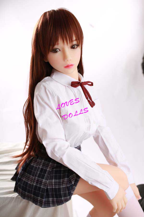 130cm(4.27ft)Top 10 Best Sex Dolls Mini Sex Dolls With Multifunctional 304 Metal Skeleton With Pretty Body Flat Chest Beautiful Buttocks Japanese School girl With White Tender Skin Wear Sexy student short skirt Pink Pussy Vagina Lively Oral AnalLove DollYW-96