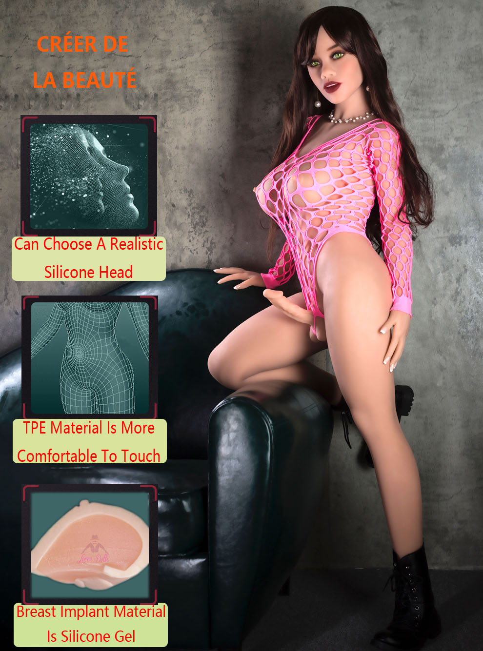 156cm(5.12ft) Tranny Sex Doll With Penis