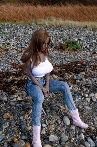 156cm(5.12ft) Black Silicone Sex Doll