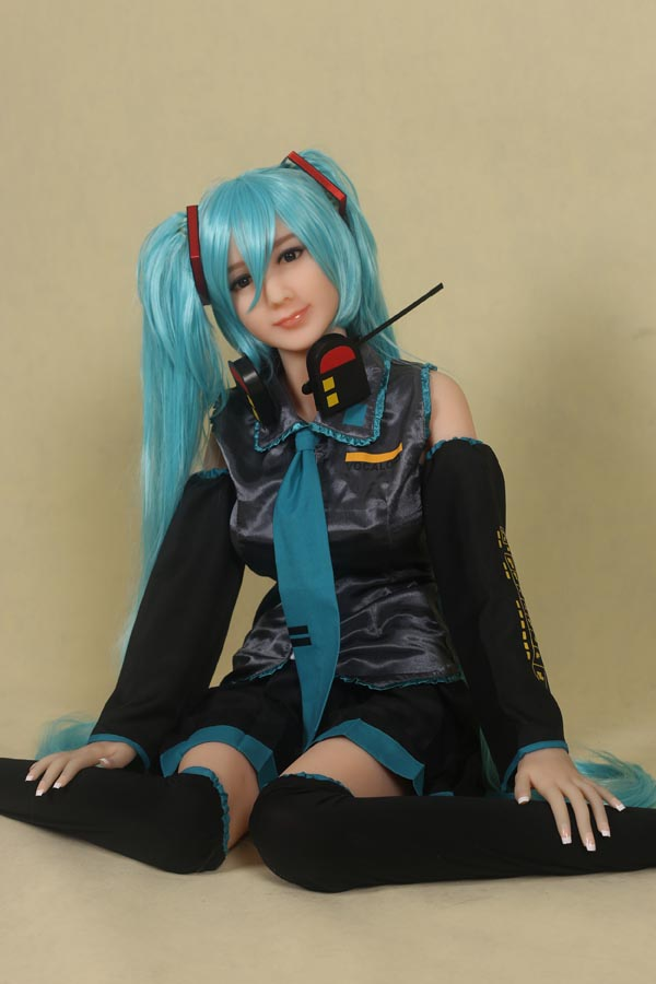 165cm(5.41ft) Japanese Sexy Anime Sex Doll With Long Blue Hair Tempting Body Wear Cosplay LOVESDOLLS-76