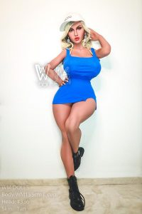155cm(5.09ft) Sex Doll Moaning Of BBW And The Sex Doll Big Pointed Breast Joggled Tautly Under The Thin Cotton Of Her Conjoined Short Skirt
